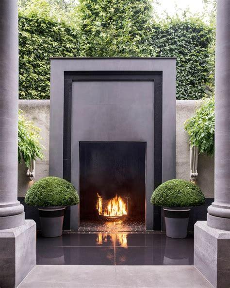 best 25 modern outdoor fireplace ideas on