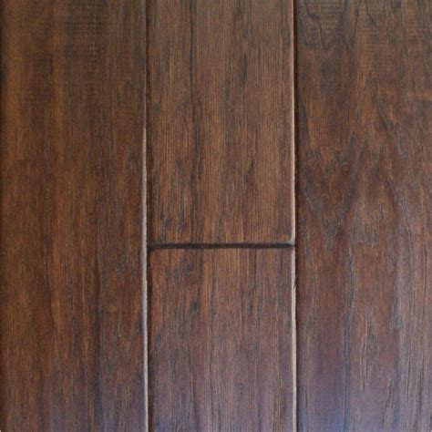 millstead take home sle hand scraped hickory cocoa solid hardwood flooring 5 in x 7 in