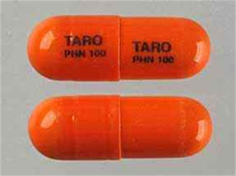 Sale Phenytoin Sodium 100 Mg taro phn 100 taro phn 100 pill images orange capsule shape