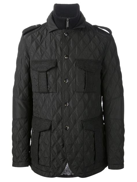 Quilted Jacket Black by Etro Quilted Jacket In Black For Lyst