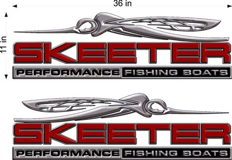 skeeter boat decals ebay pair 11x36 quot skeeter 3d boats logo decal vinyl sticker