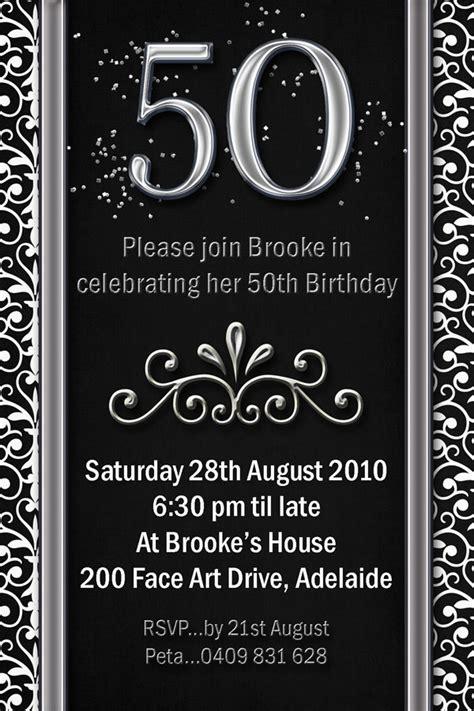50th Birthday Invitation Templates Microsoft Word Templates Resume Exles Bnydv8qg2z 50th Birthday Invitation Templates Word Free