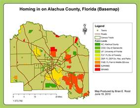 alachua county florida map applications in gis rood week 6 homing in on alachua