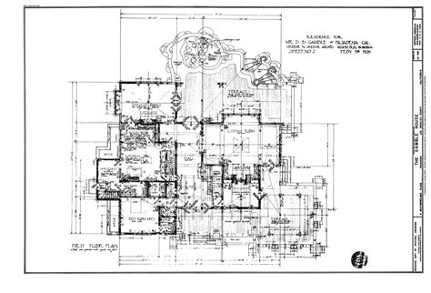 gamble house floor plan craftsman landmark the gamble house time to build
