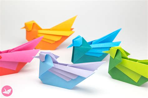 Origami Paper Crafts Ideas - origami bird tutorial mandarin or seagull simon