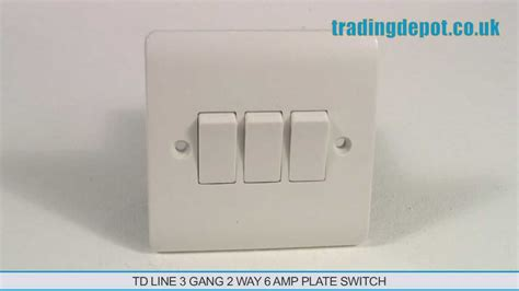 trading depot td line 3 2 way 6 plate switch