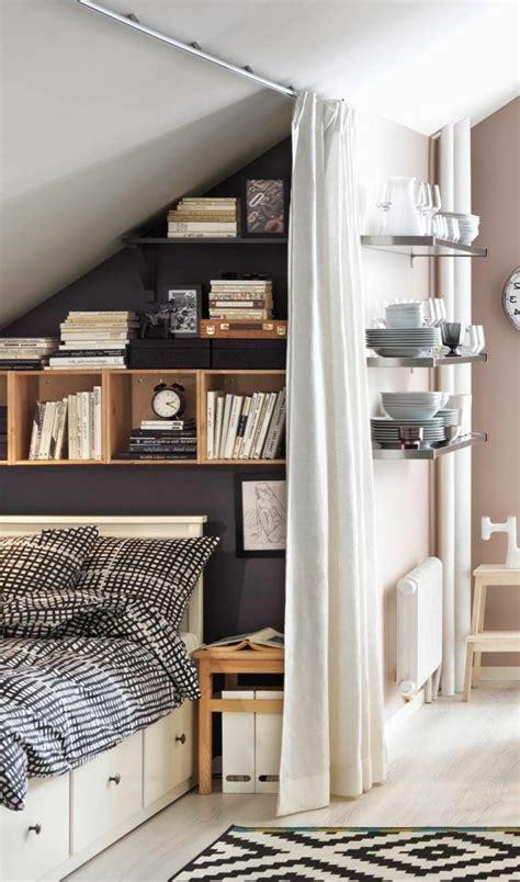 Delightful Deco Mur Chambre Adulte #3: Déco-creatives-idées-de-chambre-adulte-petite-espace.jpg