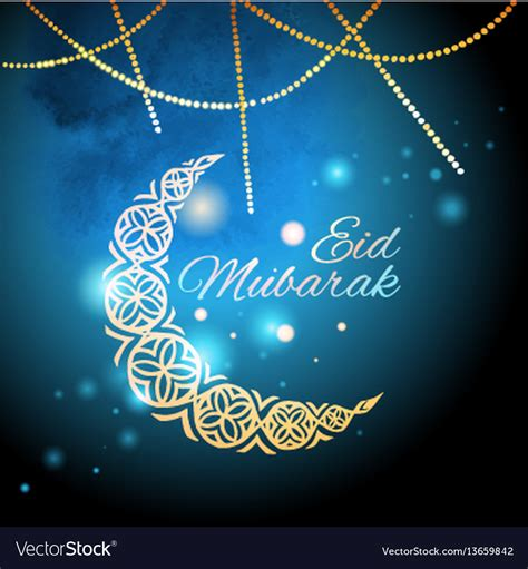 Eid Greeting Card Template by Eid Mubarak Greeting Card Template Royalty Free Vector Image