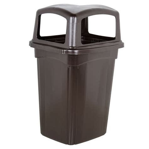 trash can continental 6564br colossus 56 gallon brown four door