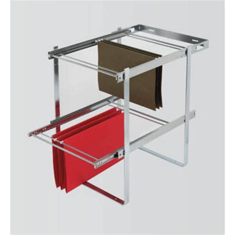 pull out file cabinet drawer two tier pull out file drawer system for kitchen or desk