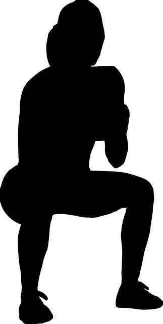 Silhouette Crossfit Crouching · Free vector graphic on Pixabay