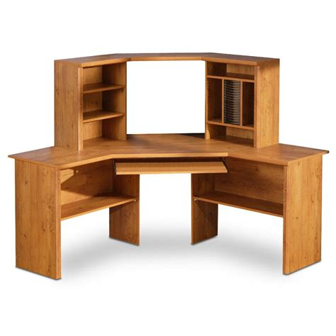 Corner Desk With Shelves Design Homesfeed Wooden Corner Desk