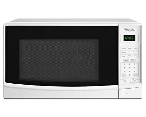 Best Small Countertop Microwave by Whirlpool 0 7 Cu Ft Compact Countertop Microwave W Add A Minute White Wmc10007aw