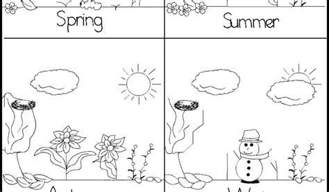 coloring pages 4 seasons four seasons tree colouring