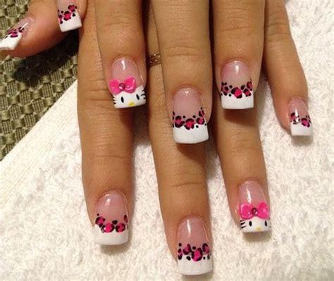 imagenes de uñas acrilicas de kitty todo sobre manos y pies lindos dise 241 os de u 241 as de hello kitty