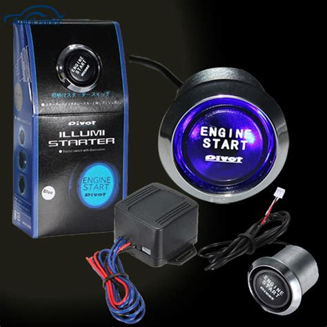 ford push button start kit ignition engine switch ebay 12v car engine start push button switch ignition starter kit blue led universal in car switches