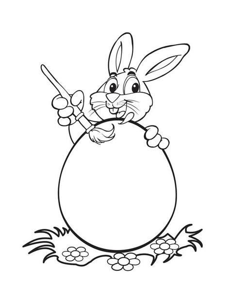 bunny with eggs coloring page free easter bunny coloring pages coloring home