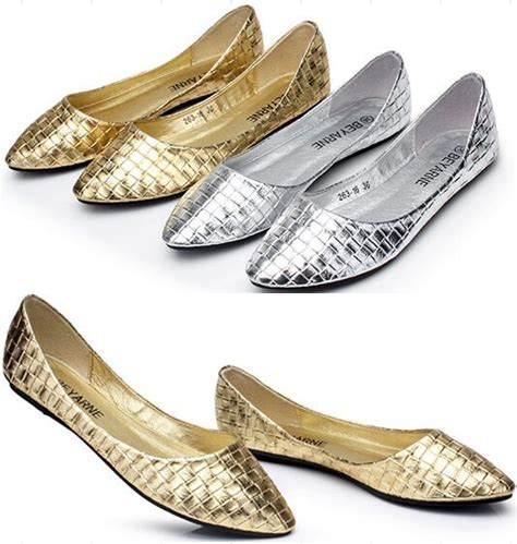 comfortable silver flats spring women shoes comfortable shallow mouth flats casual