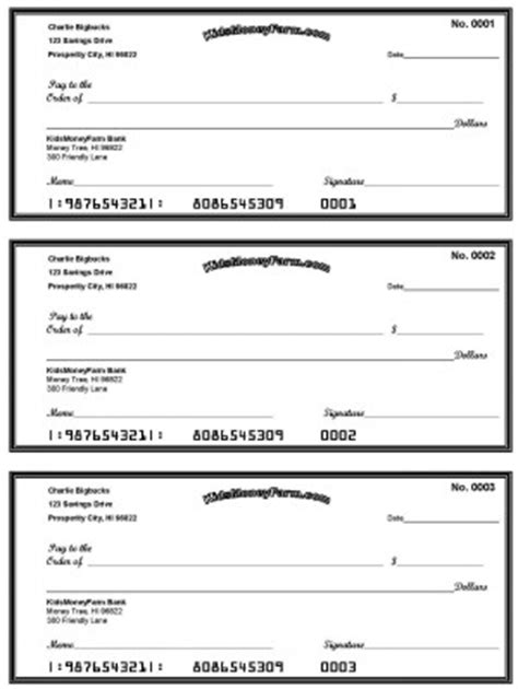 check writing template blank check template free