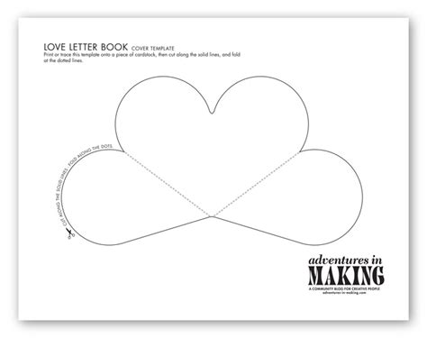 templates for making books diy love letter books for your valentine
