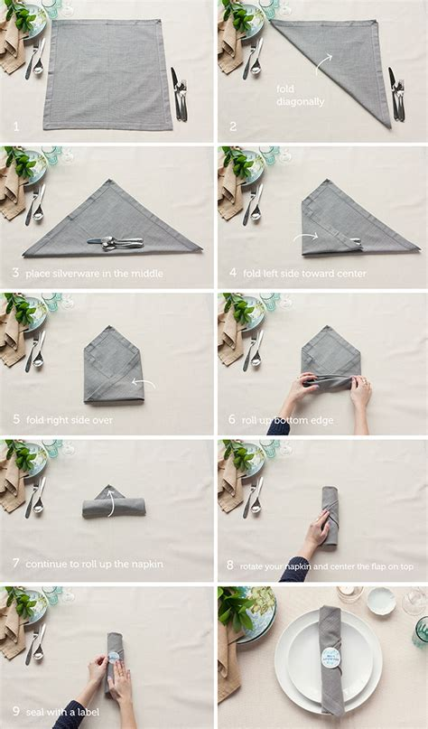 Ways To Fold Paper Napkins With Silverware - table setting tips 3 basic napkin folds gift favor