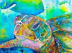 turtles painting turtle coastal decor sea turtle painting by jenartwork on