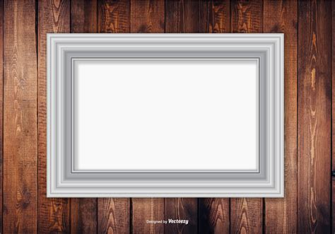 silver frame  wood wall background