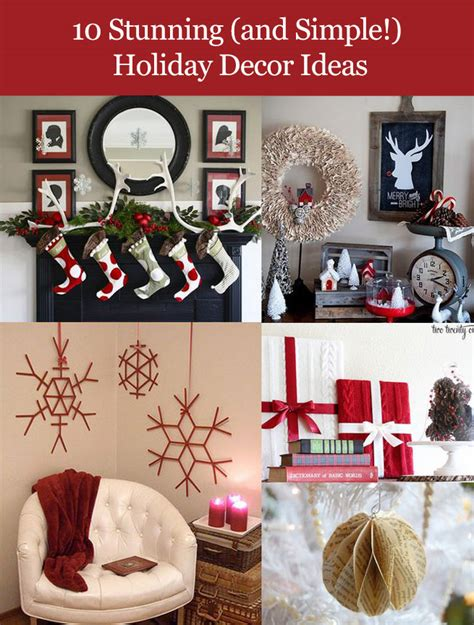 easy christmas home decor ideas do it yourself holiday home decorations