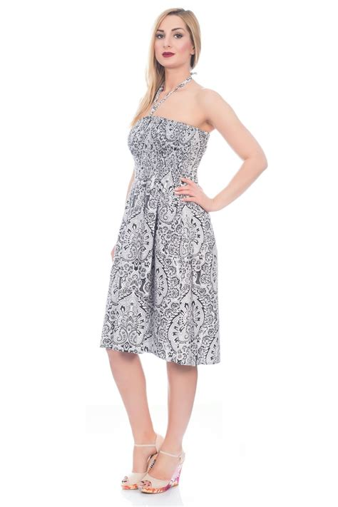 Dress Summer Lover 22 uk womens knee length summer dress cotton sizes 8 22 ebay