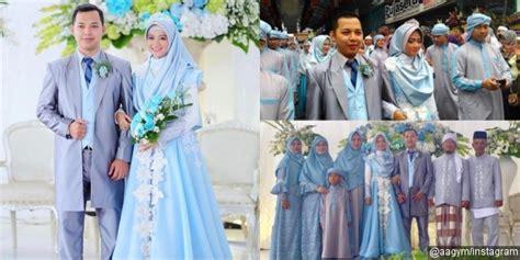 Baju Muslim Sakinah Syari Biru bernuansa biru muda anggunnya putri aa pakai gamis
