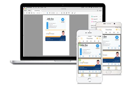 Electronic Business Card App