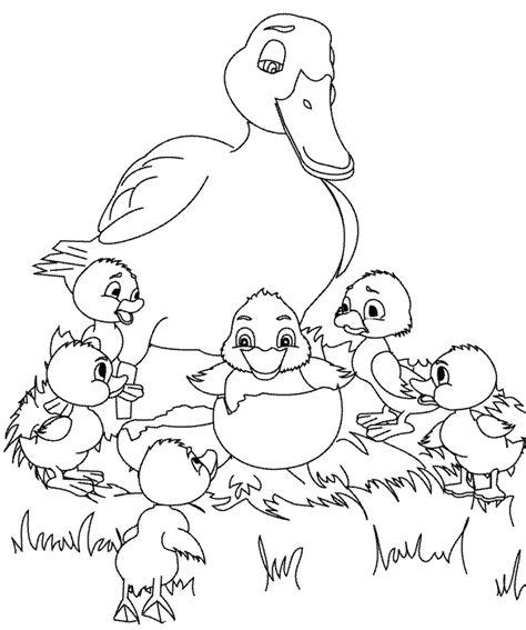 coloring pages the ugly duckling page 3