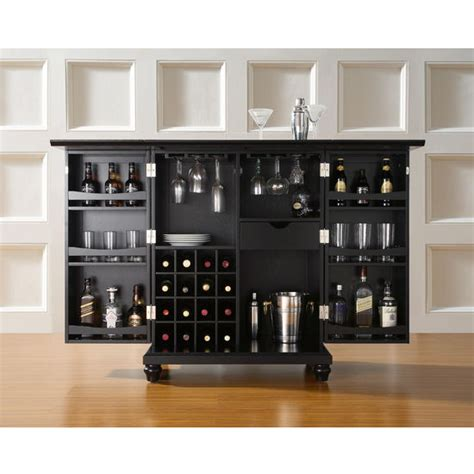 crosley cambridge bar cabinet crosley furniture cambridge expandable bar cabinet in