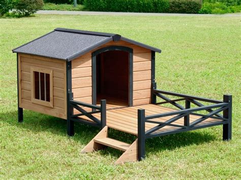 hamilton dog house bingo wooden dog house with patio