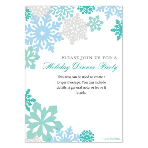 Holiday Colorful Snowflakes Invitations Cards On Pingg Com Free Winter Invitations Templates