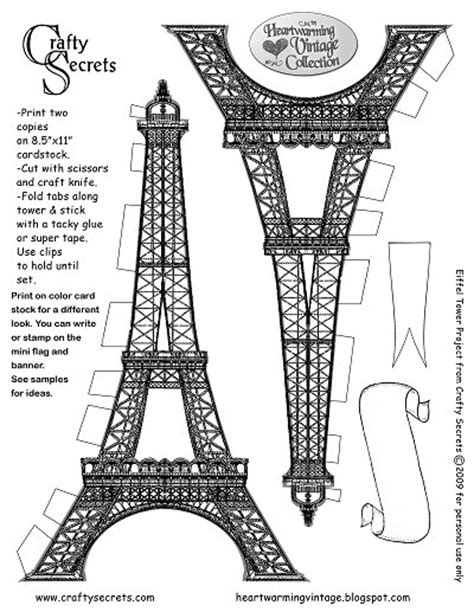 eiffel tower model template eiffel tower printable pattern from crafty secrets