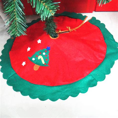 rqaa210 wave green edge decal tree skirt 60cm small