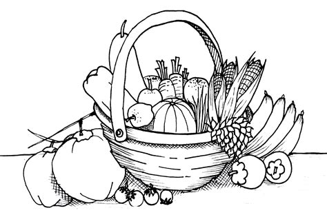 coloring pages  vegetable gardens