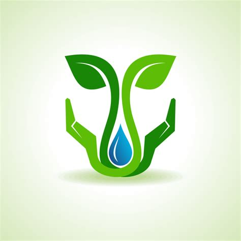 free logo design and save save earth water and environment concept free download