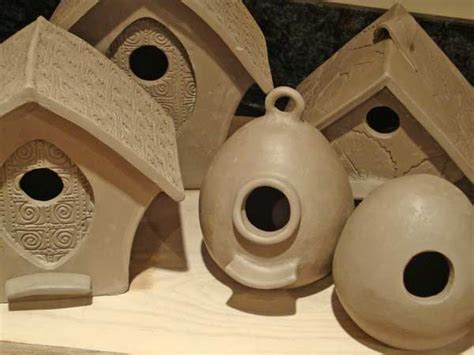 Ceramic Birdhouses Handmade - handmade pottery custom made birdfeeders bird houses