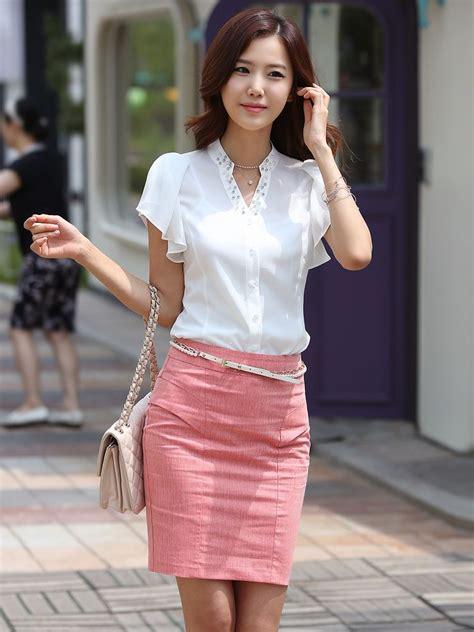 philippine women for sale korean summer pearl studded ruffled chiffon white blouse