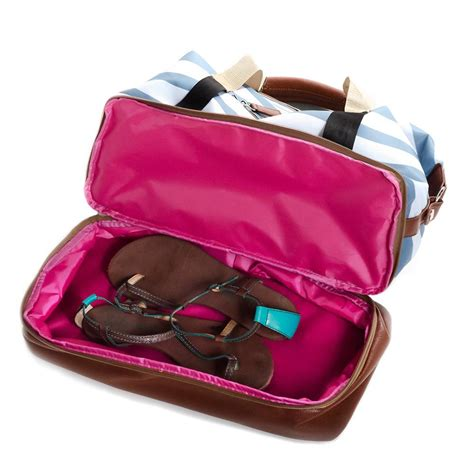 weekender bag with shoe compartment po co midway weekender bag with shoe compartment