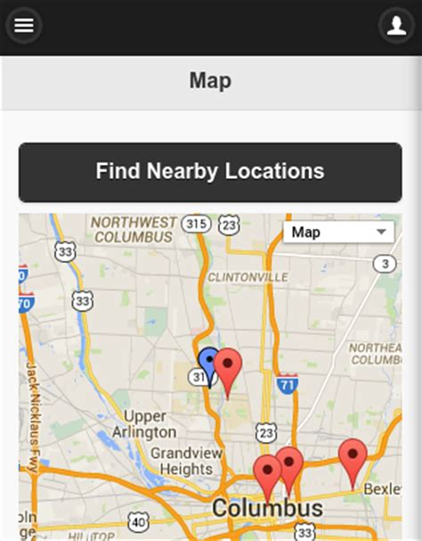 build a mobile app to geo locate nearby places with drupal