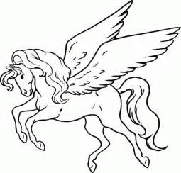unicorn wings coloring pages