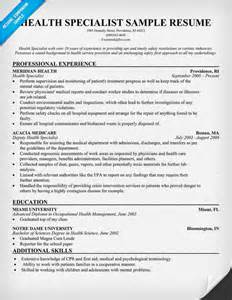 Occupational Health And Safety Specialist Cover Letter by Ehs Resume Objective Webpresentation Web Fc2