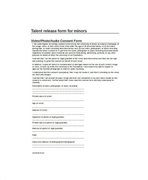 talent release form template talent release form template staruptalent
