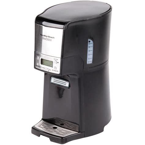 hamilton coffee maker parts hamilton 48464 brewstation summit black single serving 12 cup coffee maker with auto shut