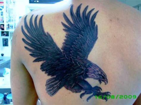 black and grey eagle tattoo black grey eagle on mens back tattoo
