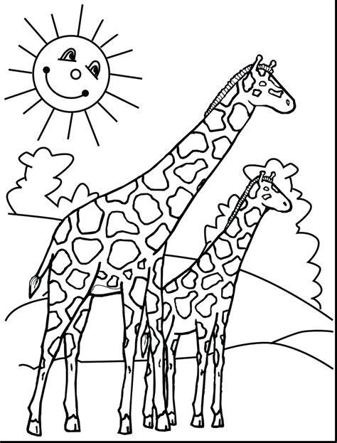 Free Coloring Page 2018 by Baby Giraffe Coloring Pages Free Coloring For 2019