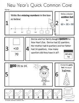 new year grade 3 new year s math and literacy activities second grade
